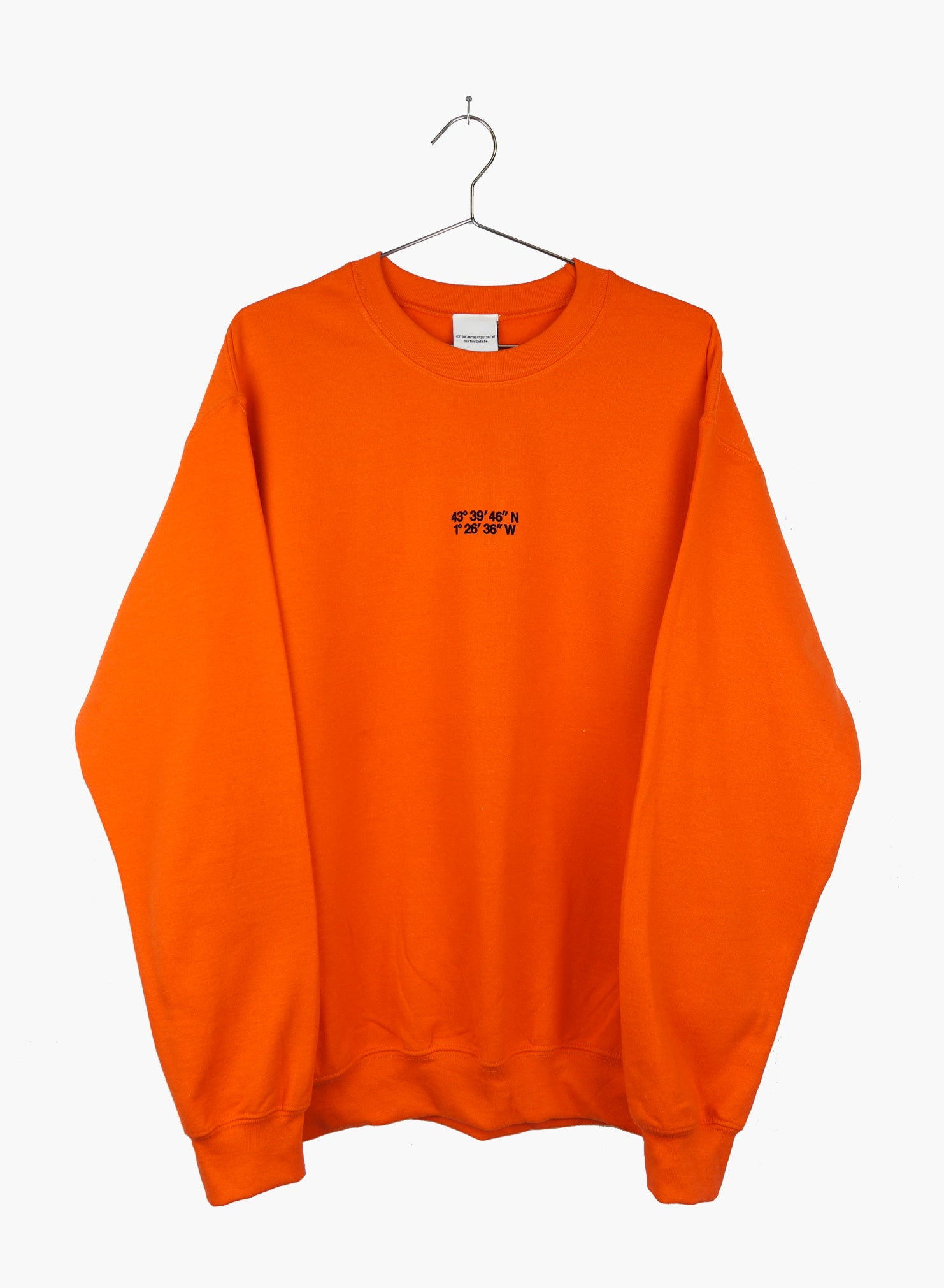 Surfin Estate crewneck coordinates logo, orange