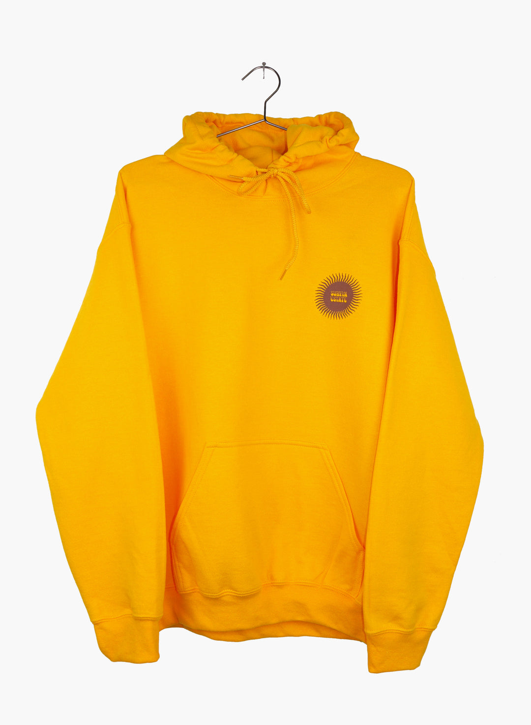 Surfin Estate sweat à capuche gold avec logo sérigraphié sunshine.