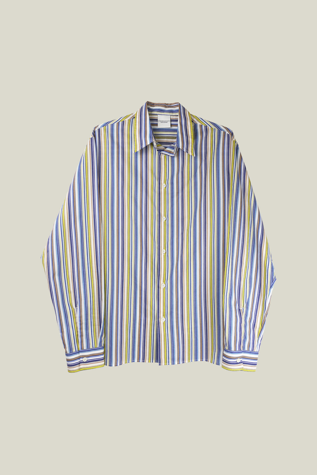 Long sleeves shirt with stripes. 100% cotton.