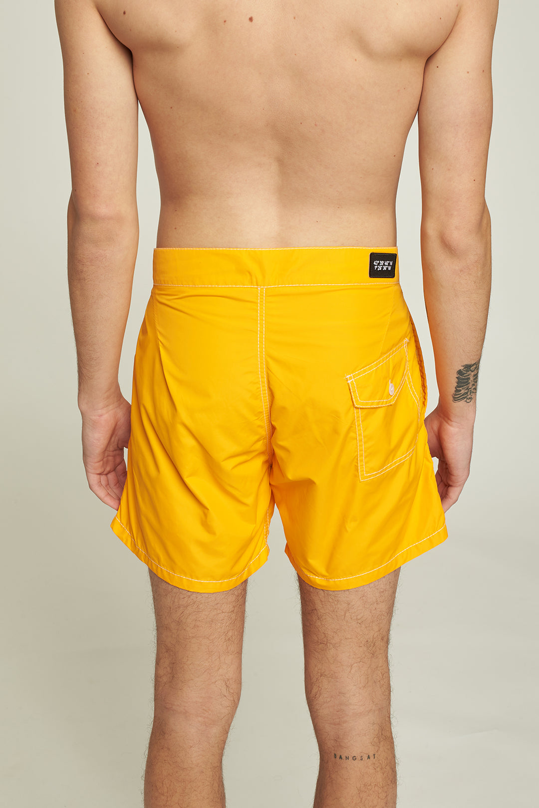 Yellow boardshort - water repellent - Men