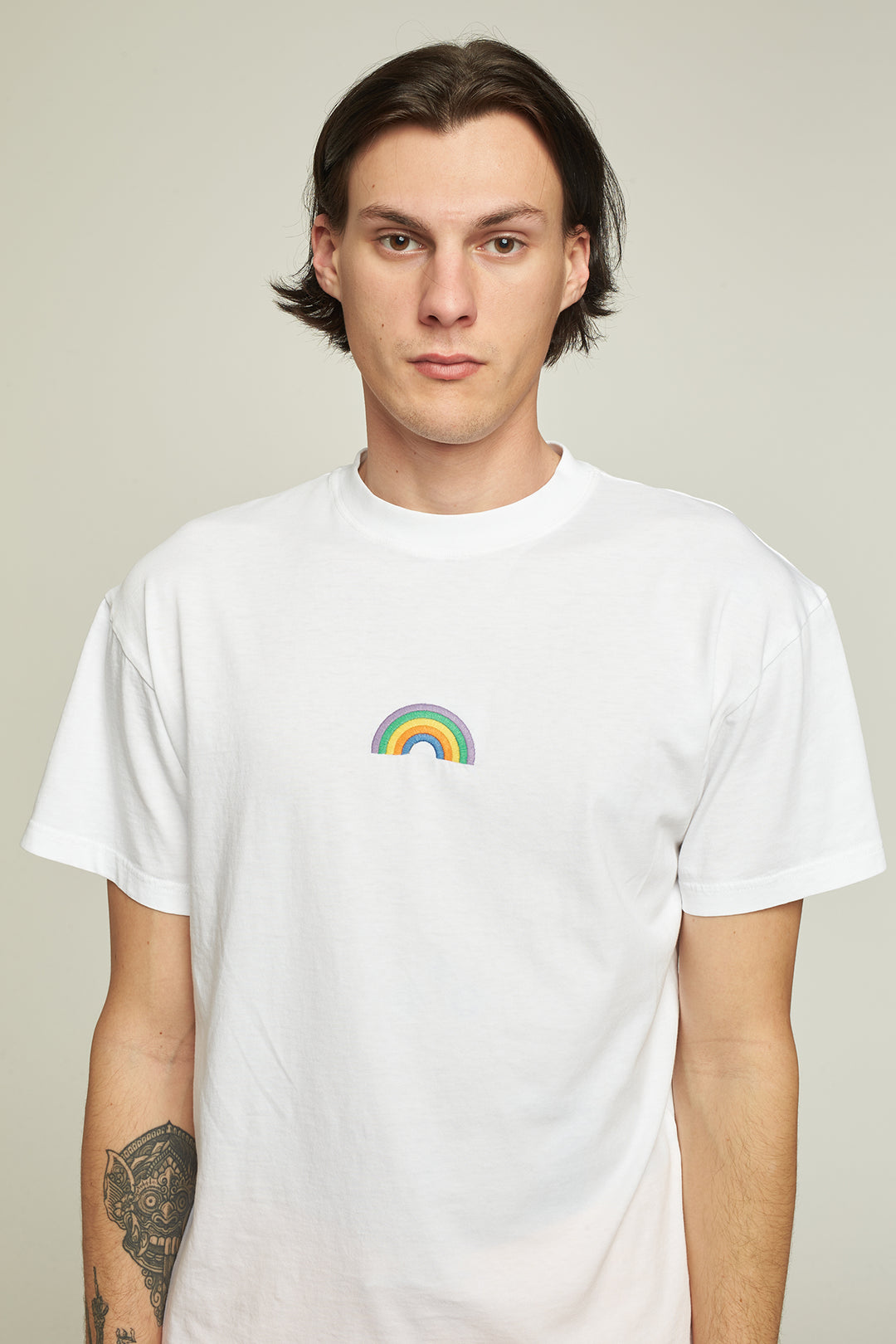 "T-Shirt MC ""Rainbow"" - Blanc"