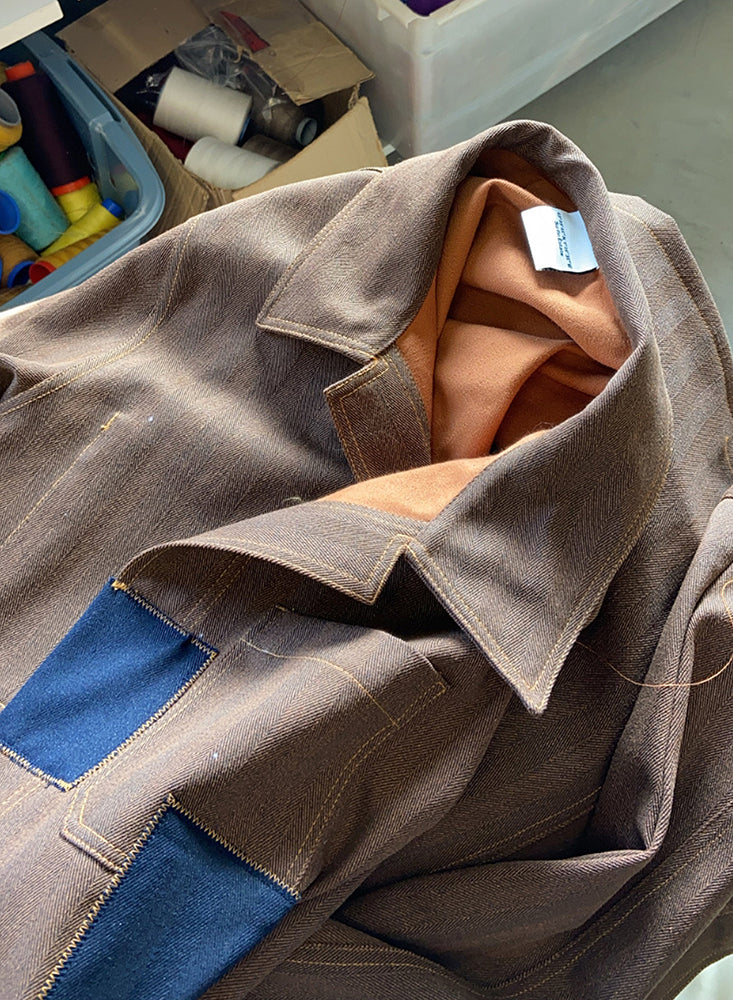 Surfin Estate brown worker jacket, made in France.