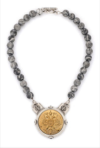 Matisse Jasper with Canard Medallion Necklace