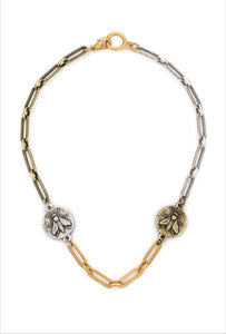 Mixed Metal Versailles Chain 2-in-1 Necklace