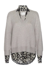 Load image into Gallery viewer, Looker Layered V-Neck Sweater Leopard