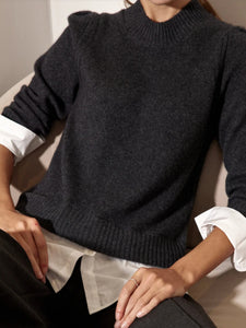 Eton Layered Crew Looker Sweater