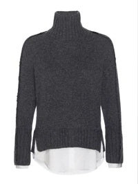 Jolie Fringe Layered Looker Sweater