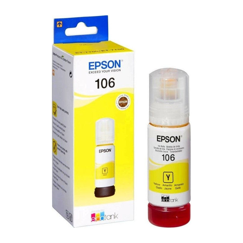 მელანი 106 Yellow EcoTank Epson Genuine (C13T00R440)
