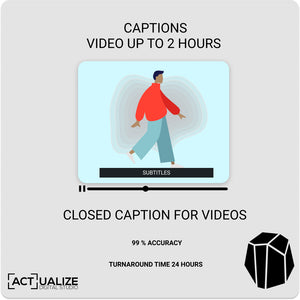 Video Captioning : Up to 2 hours