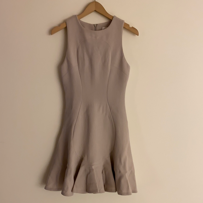 CUSHINE ET OCHS WOOL CREPE FLARE DRESS