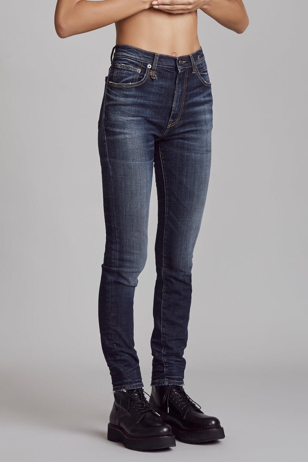 r13 high rise howell jean