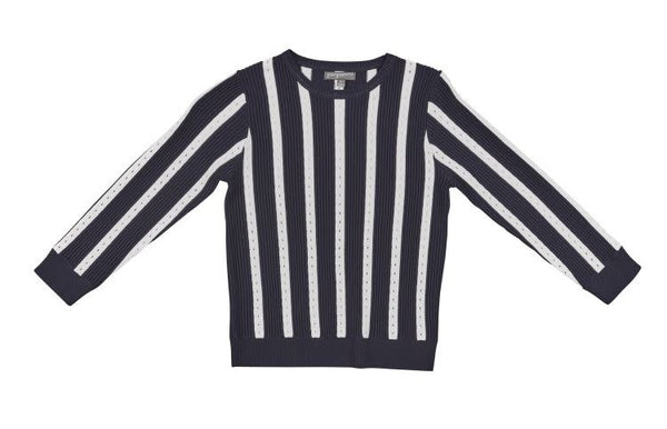 Rib Pointelle Boys Sweater