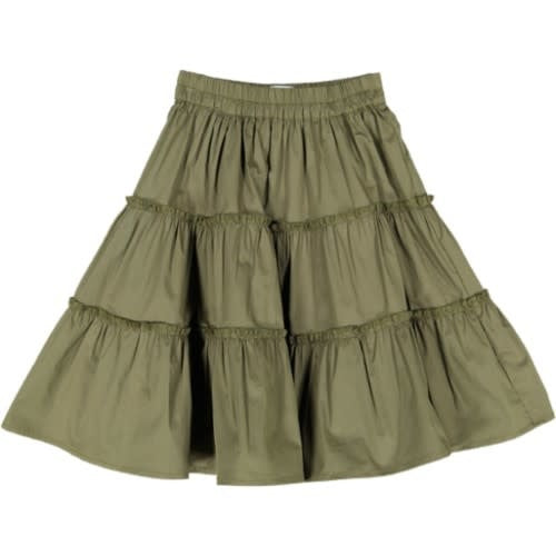 Juste Cle Khaki Tiered Skirt