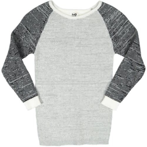 MULITCOLORED LONG SLEEVED RAGLAN KNIT