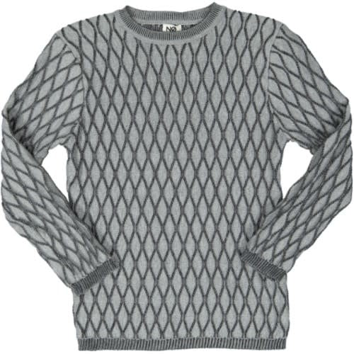 WAVE TEXTURE LONG SLEEVED KNIT