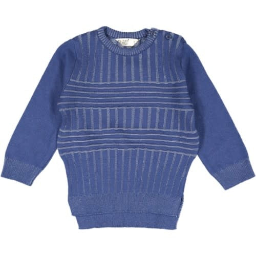 TWO COLORS RIBED CREW NECK