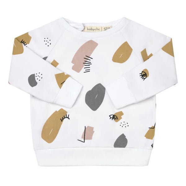 BabyClic Twin Sweatshirt-White
