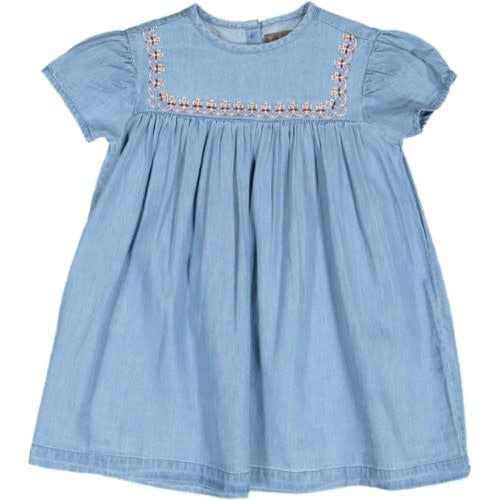 Taboo Chambray Embroidered Dress
