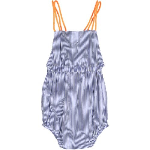 Taboo Neon Detail Striped Romper