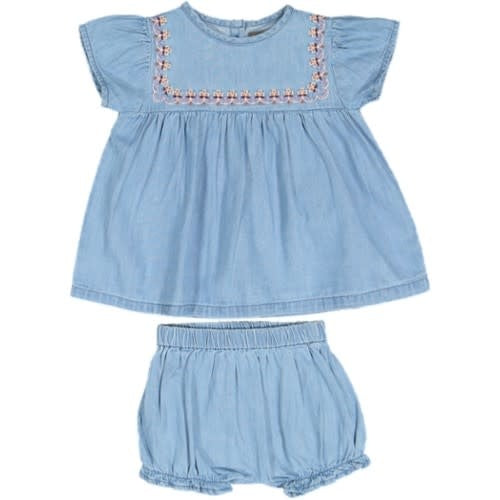 Taboo Chambray Embroidered Set