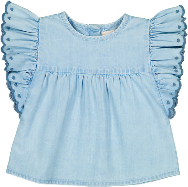 Baby Jasmin Chambray Tunic (Sizes 6M-2Y)