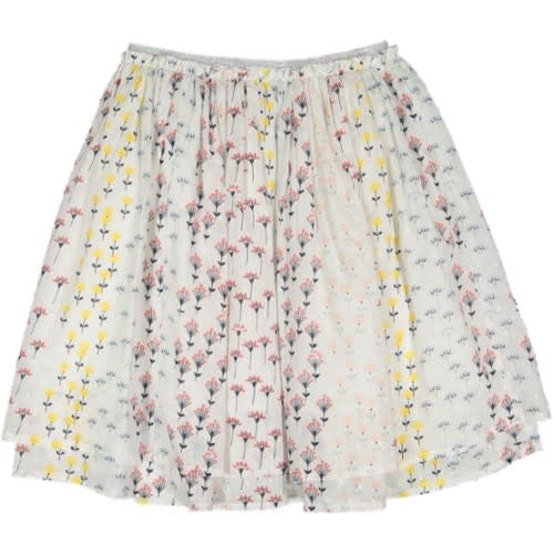 With Love Angelic Flower Printed Skirt