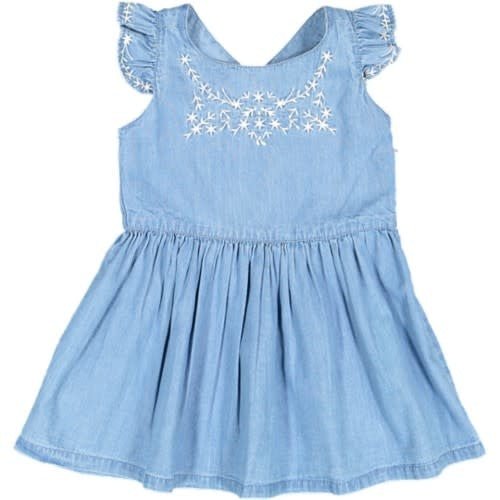 With Love Chambray Embroidered Dress
