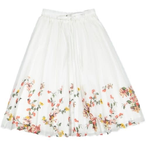 White Floral Edge Skirt