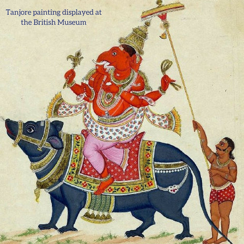 Tanjore painting of Ganesha British museum