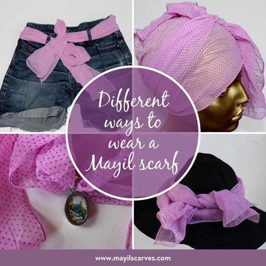 4 ways to wear a mayil scarf