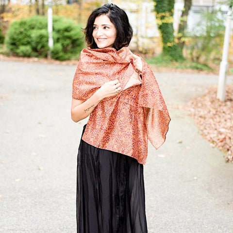 unique handmade scarves by Mayil