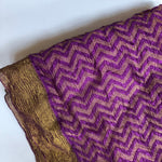 dressy scarf with gold - dark amethyst wedding wrap