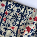 soft wool scarf - blue flowers