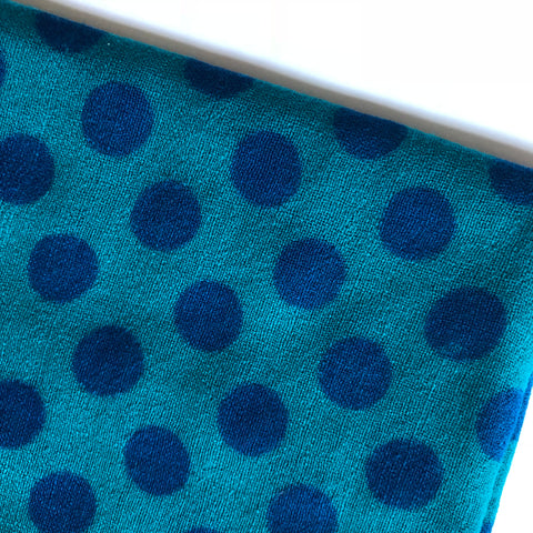 polka dotted winter wool scarf