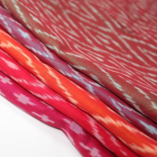silk cotton ikat scarves - colorful scarves