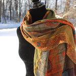 color winter scarves by Mayil