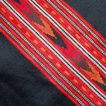 kashmiri wool scarf - black with red