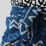 indigo blue cotton scarves from Mayil