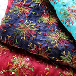 pretty scarves with embroidery