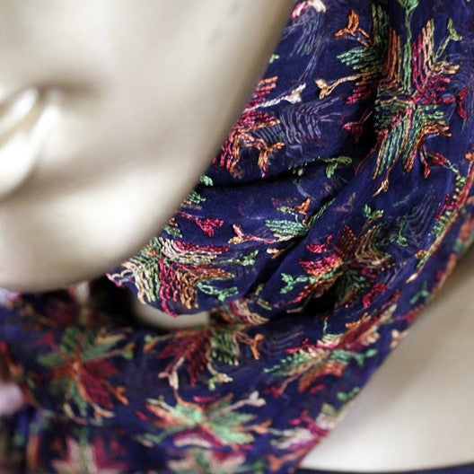 blue scarves  unique and colorful scarves by mayil