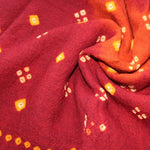 orange and red winter scarf