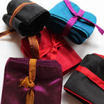 colorful silk skinny scarf - assortment