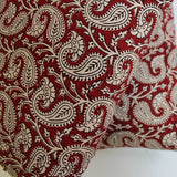 paisley print throw pillow cover