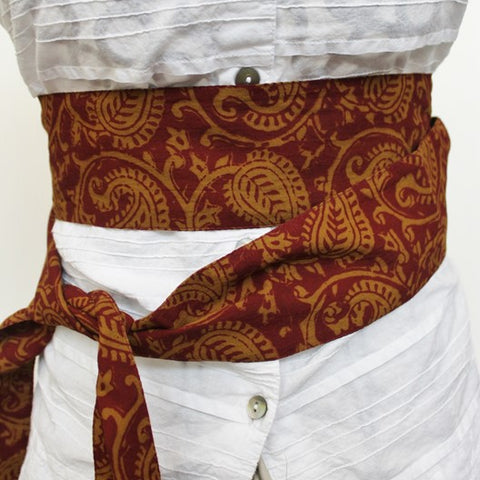 cotton skinny scarf as a belt