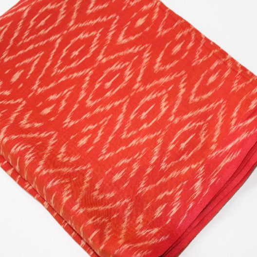 orange pochampally ikat scarf