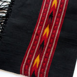 black wool scarf for men