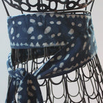indigo blue scarf belt