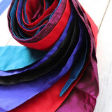 colorful ribbon scarves