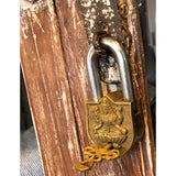 indian padlock vintage brass lakshmi engraving