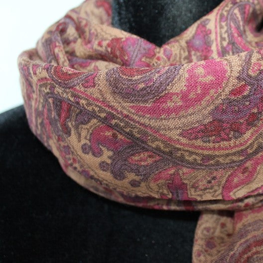 winter paisley scarf by Mayil
